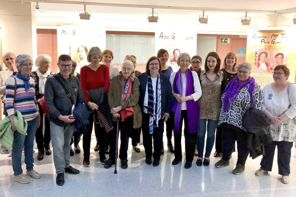 Inauguració de la mostra a la seu de l'Institut Català de les Dones