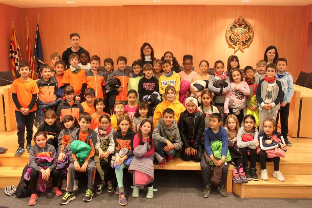 L'Ajuntament de Tàrrega rep la visita d'alumnes del Col·legi Maria Mercè Marçal