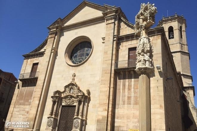 Inici de les obres de restauració del cimbori i teulada del temple parroquial de Santa Maria de l'Alba