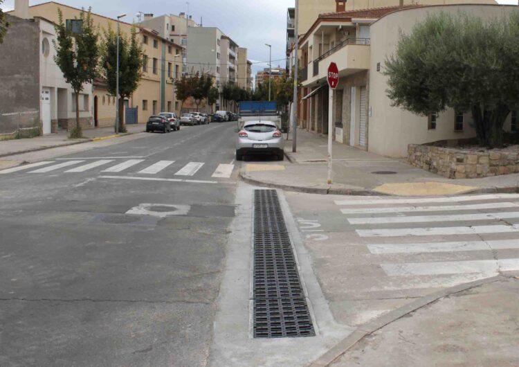 Tàrrega finalitza la instal•lació d'un nou col•lector d'aigües pluvials a l'avinguda de la Generalitat