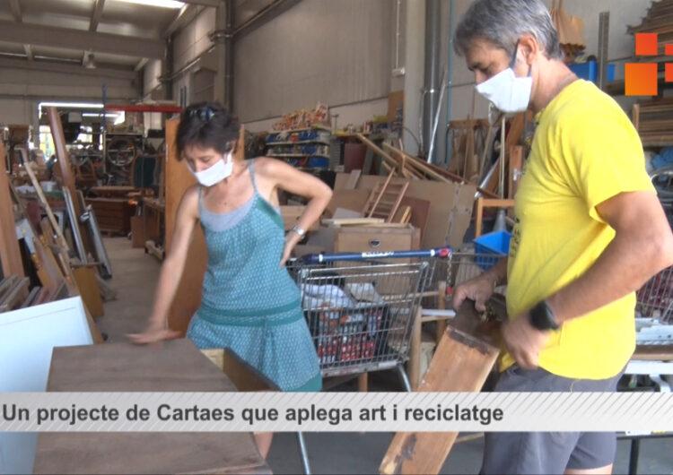 """""""Art reutilitzat i social"""" un projecte de Cartaes que aplega art reciclatge i integració social"""