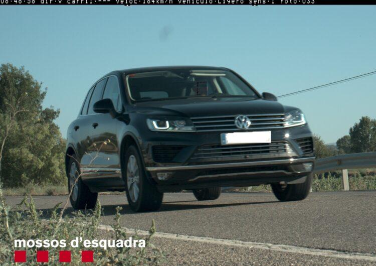 Els Mossos d'Esquadra denuncien penalment un conductor que circulava a 184 km/h per la C-14 a Agramunt (Urgell)
