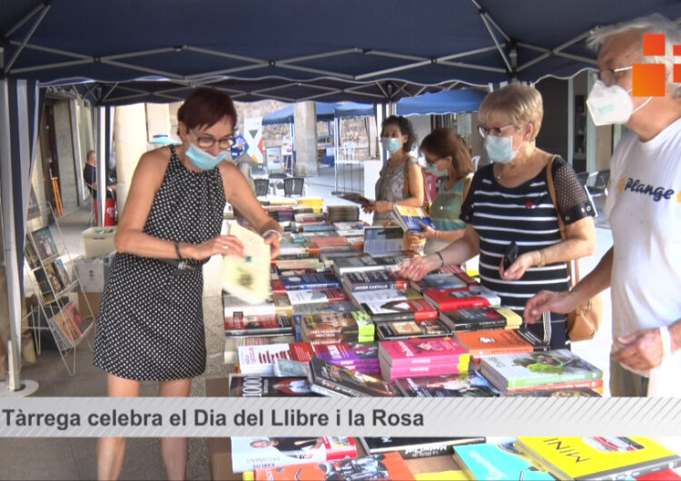 Tàrrega celebra  el Dia del Llibre i la Rosa