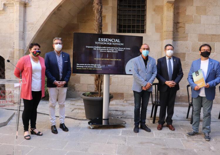 La Diputació i l'IEI posen música a la lluita contra la pandèmia amb el concert 'Essencial', aquest diumenge a porta tancada a la Seu Vella
