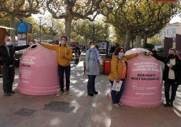 Tàrrega i  el Consell Comarcal s'adhereixen a la campanya solidària d'Ecovidrio amb motiu del Dia Mundial del Càncer de Mama