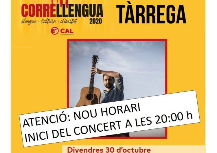 El concert de Feliu Ventura previst per divendres vinent s'avança a les vuit de la tarda