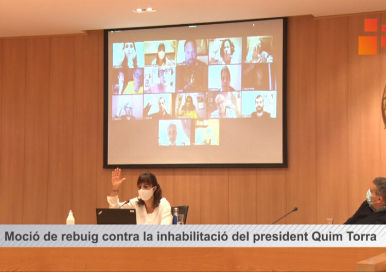 El Ple de Tàrrega aprova una moció de rebuig contra la inhabilitació del president Quim Torra
