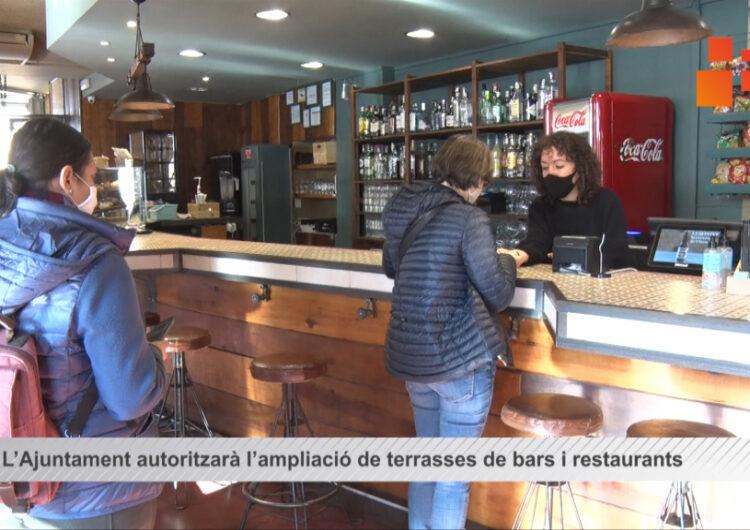 L'Ajuntament de Tàrrega autoritzarà l'ampliació de terrasses de bars i restaurants