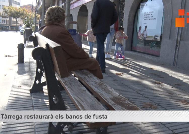 L'Ajuntament de Tàrrega restaurarà els bancs de fusta un dels projectes més votats en el procés de pressupostos participatius