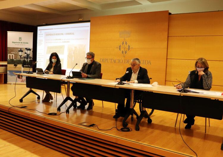 La Diputació de Lleida activa 12,5 milions d'euros en els pressupostos de 2021 per ajudar a revertir els efectes de la Covid-19