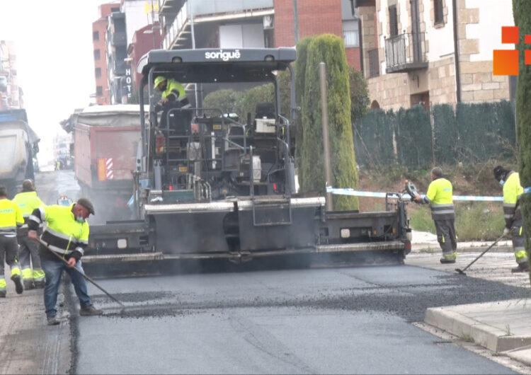 Inicien  els treballs de renovació del ferm de la C-14 al seu pas pel nucli urbà de Tàrrega
