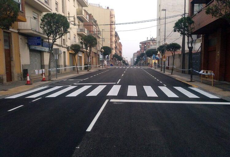 Avui es reobre al trànsit el tram de la C-14 del carrer Sant Pelegrí  entre la plaça d'Andorra i la via fèrria