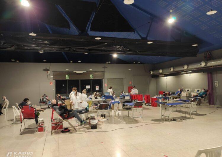 La Marató de Donants de Sang de Tàrrega es tanca amb 235 donacions