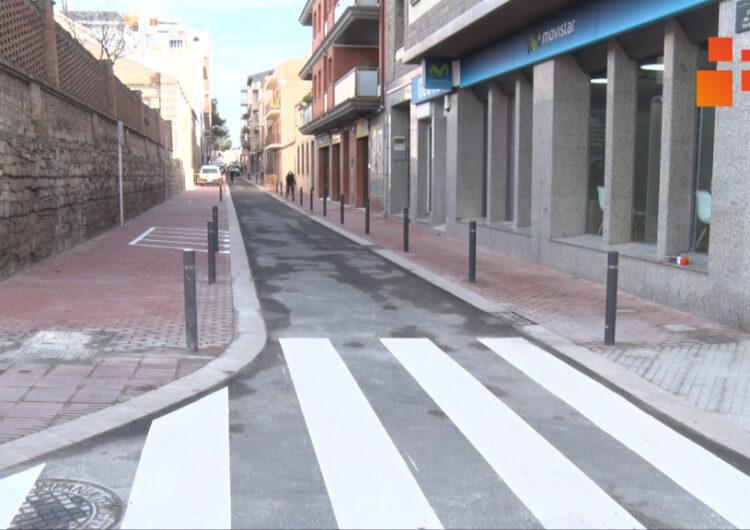 Tàrrega finalitza les obres de renovació del carrer de Jacint Verdaguer, que es reobre al trànsit avui  dimarts
