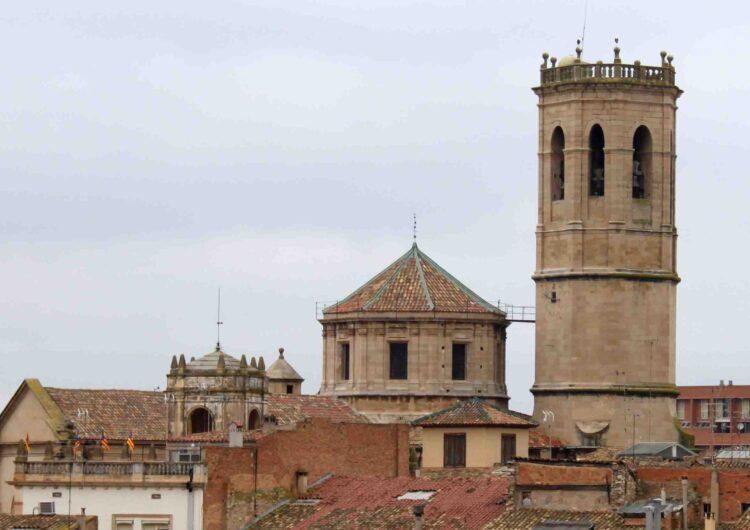 Finalitzen les obres de restauració del cimbori de l'Església Parroquial de Santa Maria de l'Alba de Tàrrega