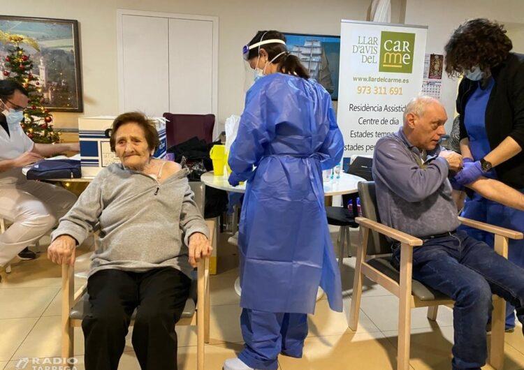 Salut administra les primeres vacunes contra la Covid-19 a les residències de gent gran de Tàrrega