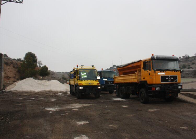 La Diputació de Lleida activa el protocol de seguretat a les carreteres de la Plana en previsió d'una forta nevada els propers dies