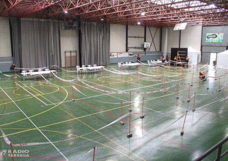 Tàrrega inicia les feines  per habilitar els quatre col·legis electorals del 14-F en grans equipaments esportius i culturals