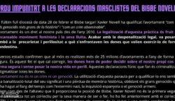 Manifest de rebuig de les declaracions del Bisbe de Solsona…