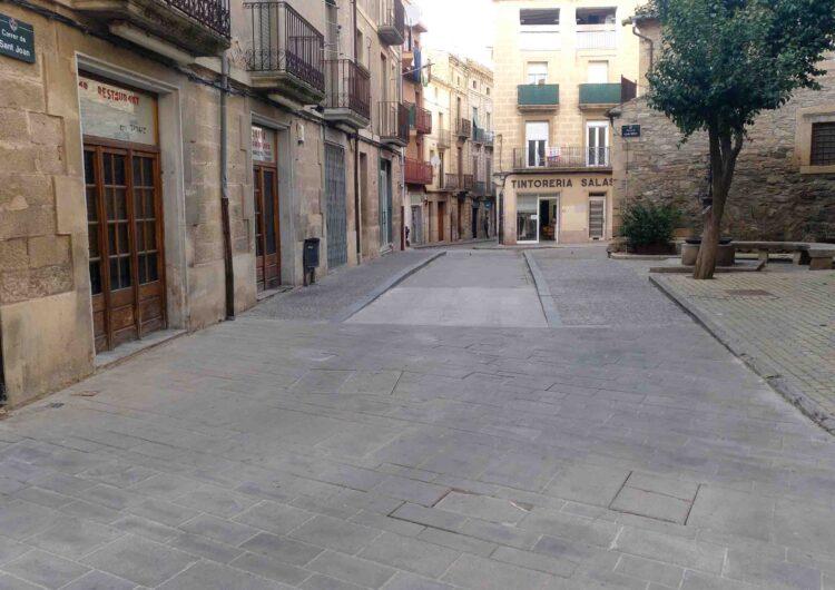 Tàrrega renovarà les lloses malmeses del paviment situat a la cruïlla dels carrers Urgell i Sant Joan a partir del dilluns