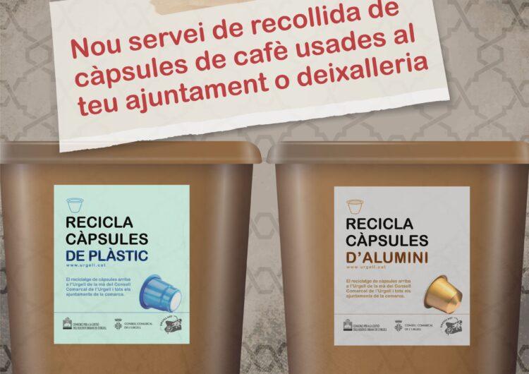 El Consell Comarcal de l'Urgell signa un conveni amb Nestlé España, SA per potenciar la recollida i el reciclatge de les càpsules de cafè