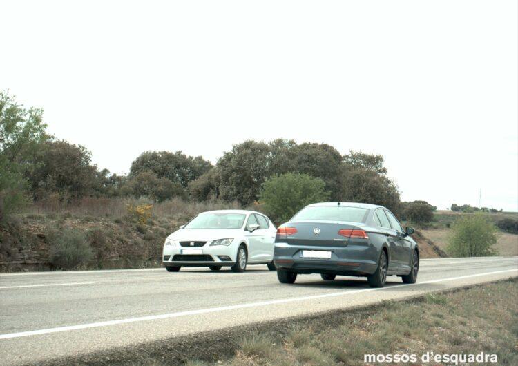 Els Mossos denuncien penalment un conductor que circulava a 181 km/h per L-310 al terme municipal de Plans de Sió (Segarra)