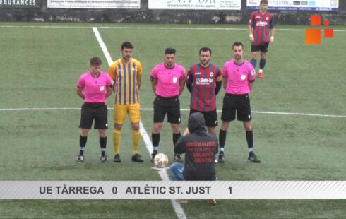 Resum del partit de Primera Catalana  UE Tàrrega  0 St. Just  1