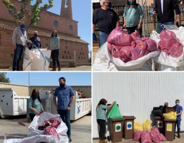 Els participants a la batuda de neteja del Let's Clean Up Europe a La Serra d'Almenara recullen 180 kg de residus