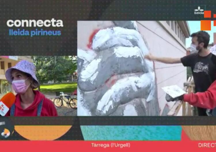 """El programa """"Connecta Lleida Pirineus"""" us explica l'evolució del mural de gran format a l'EA Ondara, realitzat  per Lily Brik i Erik Schmitz"""