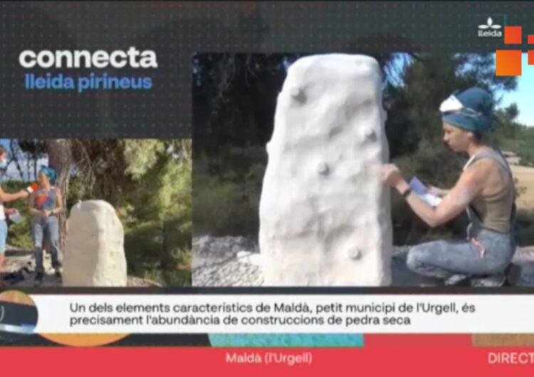 """El programa  Connecta Lleida Pirineus ha presenciat en directe com treballen els escultors del """"Maldant la pedra"""" a la localitat de Maldà"""