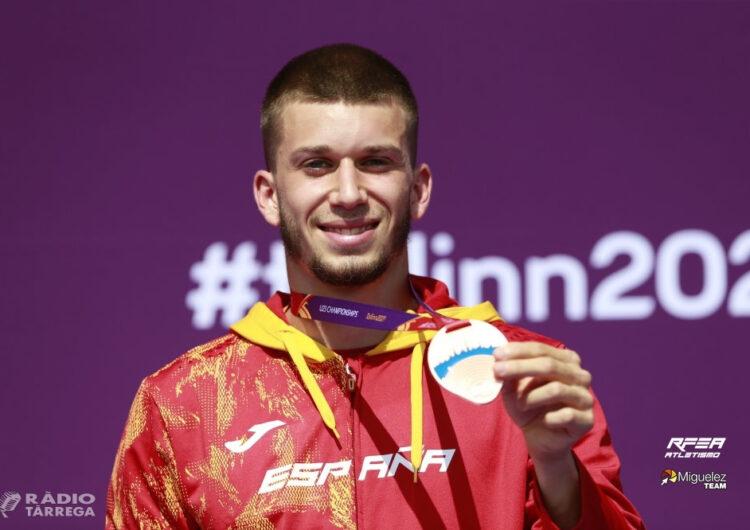 El targarí a Arnau Monné torna del Campionat d'Europa Sub23 amb una medalla de plata en relleus 4×100 i una de bronze en 100 metres