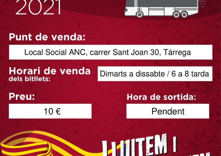 L'ANC de Tàrrega organitza autobusos a Barcelona per la Diada