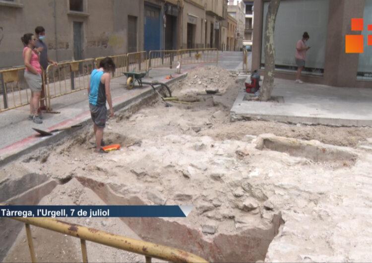 Troben les restes d'una antiga torre del segle XIV que formava part de la muralla de Tàrrega