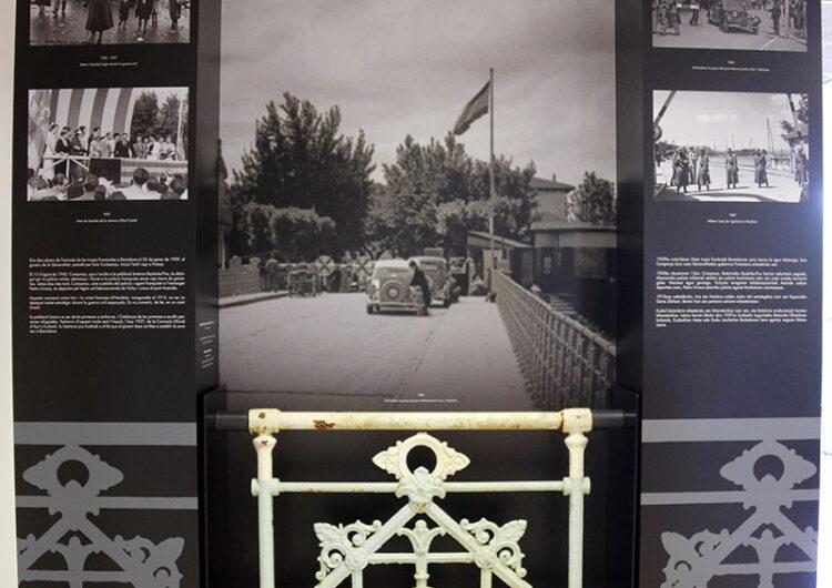 L'Espai Companys exposa una part de la barana del pont Avenida d'Irun on el president va ser entregat al franquisme