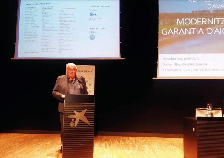 El Canal d'Urgell demana 'un projecte estratègic per a la sobirania alimentària de Catalunya i la garantia d'aigua per al país'