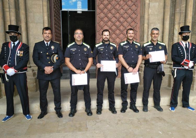 Quatre agents de la Policia Local de Tàrrega, distingits amb felicitacions en el marc del Dia de les Esquadres