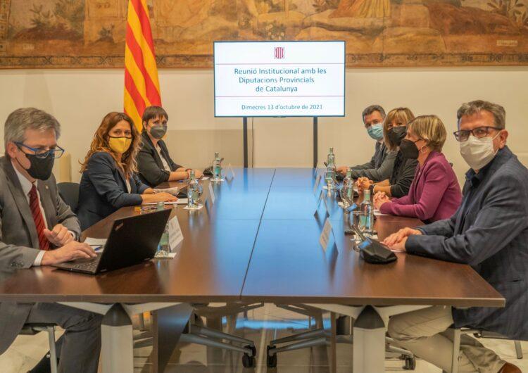El president Joan Talarn ofereix la Diputació com a garantia per impulsar sinergies de la Generalitat amb el món municipal de Lleida